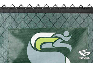 Logo Banner on Fence Screen