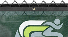Logo Banners on Fence Screen