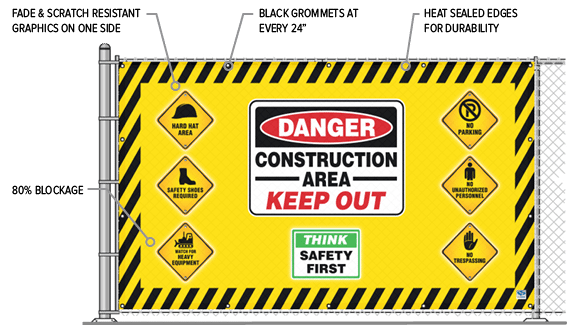 Construction Safety Gate Covers