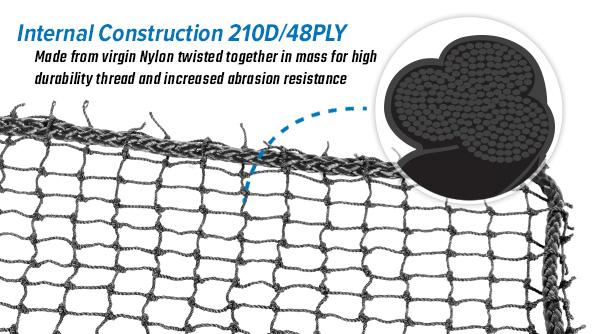 1700 Series 7/8 inch Black Sports Netting
